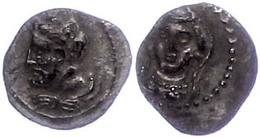 58 Obol (0,57g), Ca. 4. Jhd. V. Chr., Av: Büste Des Herakles Nach Links. Rev: Weibliche Frontalbüste Mit Langem Schleier - Antique