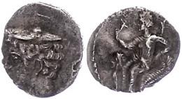 62 Tarsos, Obol (0,71g), Ca. 4. Jhd. V. Chr. Av: Hermeskopf Mit Petasos Nach Links. Rev: Nach Links Thronende Aphrodite  - Antique