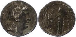 64 Tetradrachme (16,19g), Postum, Antiochos VII., Nach 138 V. Chr. Av: Kopf Nach Rechts. Rev: Stehende Athena Nach Links - Antique