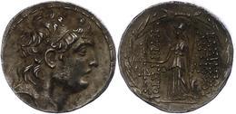 65 Tetradrachme (16,66g), Postum, Antiochos VII., Nach 138 V. Chr. Av: Kopf Nach Rechts. Rev: Stehende Athena Nach Links - Antique