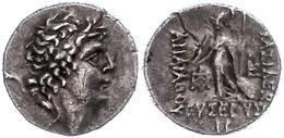 67 Drachme (3,93g),101-87 V. Chr., Ariarathes IX. Eusebes Philopator. Av: Kopf Nach Rechts. Rev: Athena Mit Schild Und S - Antique