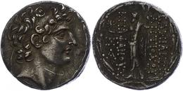 72 Antiochia Am Orontes, Tetradrachme (16,26g), Antiochos VIII., 121-113 V. Chr. Av: Kopf Nach Rechts. Rev: Stehender Ze - Antique