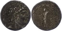 73 Antiochia Am Orontes, Tetradrachme (16,27g), Antiochos VIII., 121-113 V. Chr. Av: Kopf Nach Rechts. Rev: Stehender Ze - Antique