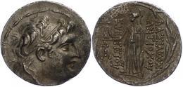 74 Antiochia Am Orontes, Tetradrachme (16,33g), Antiochos VII., 138-129 V. Chr. Av: Kopf Nach Rechts. Rev: Stehende Athe - Antique