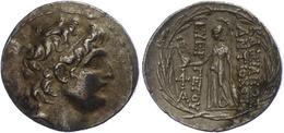 75 Antiochia Am Orontes, Tetradrachme (16,49g), Antiochos VII., 138-129 V. Chr. Av: Kopf Nach Rechts. Rev: Stehende Athe - Antique