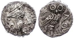 85 Sabäer, Drachme (5,02g), Ca. 3. Jhd. V. Chr.. Av: Athenakopf Mit Attischem Helm Nach Rechts. Rev: Stehende Eule Nach  - Antique