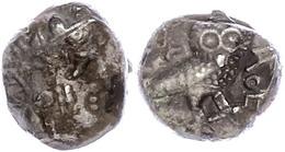 88 Sabäer, Drachme (5,34g), Ca. 3. Jhd. V. Chr.. Av: Athenakopf Mit Attischem Helm Nach Rechts. Rev: Stehende Eule Nach  - Antique