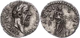 93 Piscennius Niger, 193-194, Denar (2,86g), Antiochia. Av: Kopf Nach Rechts, Darum Umschrift. Rev: Stehender Salus Vor  - Roman