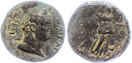 107 Kilikien, Anemurion, AE (8,81g), Titus, 79-81, Av: Kopf Nach Rechts, Darum Umschrift, Rev: Stehende Artemis Nach Rec - Roman