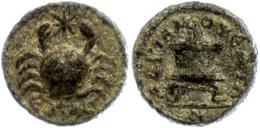 108 Kilikien, AE (3,28g), Zeit Des Marcus Aurelius, 161-180. Av: Krabbe, Zwischen Den Scheren Ein Stern. Rev: Altar Mit  - Roman