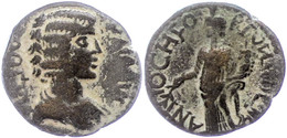 109 Pisidien, AE (5,29g), Julia Domna, 193-217 N. Chr. Av: Büste Nach Rechts, Darum Umschrift. Rev: Genius Mit Füllhorn  - Roman