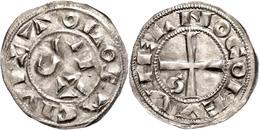 119 Frankreich, Toulouse, Denar (1,19g), O.J. (1222-1249), Raimund VII., Münzstätte Toulouse. Av: Kreuz, Im Außenkranz U - Coins