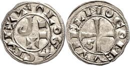 120 Frankreich, Toulouse, Denar (1,20g), O.J. (1222-1249), Raimund VII., Münzstätte Toulouse. Av: Kreuz, Im Außenkranz U - Coins