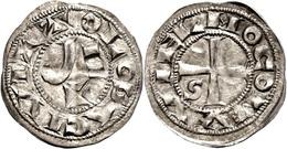 121 Frankreich, Toulouse, Denar (1,23g), O.J. (1222-1249), Raimund VII., Münzstätte Toulouse. Av: Kreuz, Im Außenkranz U - Other Coins