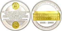 488 10 Dollars, 2005, 150. Jahrestag Der Eröffnung Der Sydney Mint, Schön 847, Im Etui Mit OVP Und Zertifikat, Teilvergo - Australia