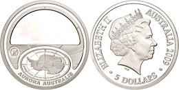 490 5 Dollars, 2009, 4. Internationales Polarjahr 2007 - 2009 (Kinegramm), KM 1081, Schön 1320, Im Etui Mit OVP Und Zert - Australia