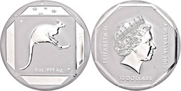 494 10 Dollars, 2013, Road Sign - Känguru, 5 Unze Silber, Etui Mit OVP Und Zertifikat. Auflage Nur 5.000 Stück, PP  PP - Australia
