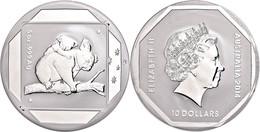 501 10 Dollars, 2014, Road Sign - Koala, 5 Unze Silber, Etui Mit OVP Und Zertifikat. Auflage Nur 5.000 Stück, PP  PP - Australia