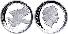507 1 Dollar, 2015, Wedge Tailed Eagle, 1 Unze Silber, High Relief, Etui Mit OVP Und Zertifikat. Auflage Nur 10.000 Stüc - Australia