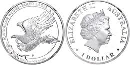 508 1 Dollar, 2015, Wedged Tailed Eagle, In Slab Der NGC Mit Der Bewertung PF70 Ultra Cameo, Flag Label. - Australia