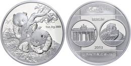 544 1 Unze Silber, 2013, World Money Fair In Berlin, Verschweißt, Im Etui Mit OVP Und Zertifikat, PP. Auflage Nur 10.000 - China