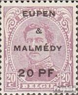 Belg. Post Eupen / Malmedy 4A Avec Charnière 1920 Albert I. - Guerre 14-18