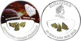 562 10 Dollars, 2012, Meteorites - Neuschwanstein 2002, Mit Meteoritensplitter, Silber, Coloriert, Etui Mit OVP Und Zert - Fiji