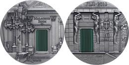 566 10 Dollars, 2013, Masterpieces In Stone - Malachite Room, 3 Unzen Silber, Antik Finish, Etui Mit OVP Und Zertifikat, - Fiji
