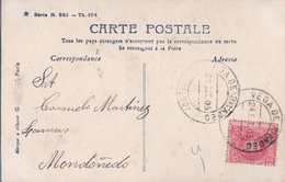 1905 , ASTURIAS, TARJETA POSTAL CIRCULADA VEGADEO - MONDOÑEDO , MAT. VEGA DE RIVADEO . - 1889-1931 Regno: Alfonso XIII