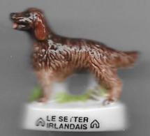 Fève CHIEN LE SETTER IRLANDAIS    Série Atlas  (fin De Collection , Une Seule ) - Animals