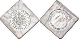 1008 Anhalt, 2 Mark (21,50g), 1876, Probe In Silber Auf Viereckiger Klippe, Schaaf 2 M / G 3 Var., Erstabschlag.  EA - Other Coins