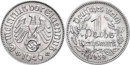 1009 1 Reichsmark, 1939/1940, Probe In Nickel, 4,3 G, Schaaf 354/G 13, Vz.  Vz - Other Coins