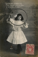 "1909 , PONTEVEDRA , TARJETA POSTAL CIRCULADA VIGO - RIBADEO , MAT. AMBULANTE "" VIGO - MONFORTE - MIX "" - 1889-1931 Regno: Alfonso XIII"