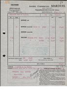 FACTURE MARDUEL - VILLEFRANCHE SUR SAONE - 1964 - 1950 - ...