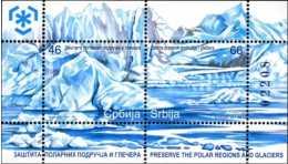 2011 Serbia - Protect Polar Regions And Glaciers Issue -numbered MS- MNH** MI B 9 - Preservare Le Regioni Polari E Ghiacciai