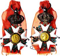 1368 Frankreich, Ritterkreuz Der Ehrenlegion, Verliehen 1852-1870, Mit Bildnis Von Kaiser Napoleon I., Silber, Medaillon - Medals