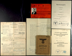 1425 Soldbuch Eines Eisenbahn Pioniers (Obergefreiten Eisenbahn-Pionier-Kompanie 55) Mit Eintragungen: Kubanschild, Ostm - Documents