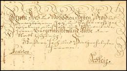 """2398 """"Plauen 17. Januar 1753"""", Herrlicher Schnörkelbrief Mit Siebenzeiliger Ergebenheitsanschrift Nebst Vermerk """"Franco"""" - Sachsen"""