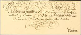 """2399 """"Leipzig 20. April 1798"""", Schöner Schnörkelbrief Mit Vierzeiliger Ergebenheitsanschrift Und Rücks. Ebenso Schönem T - Sachsen"""