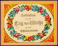 """2401 """"Plauen 1829"""", Dekoratives Taufbrief-Kuvert Mit Inhalt (kein Postalischer Beleg)  BF - Sachsen"""