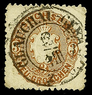 """2424 """"GLAUCHAU-GERA"""", Klarer Bahnpoststempel A. 3 Ngr. Wappen, Marke Eckbug, Katalog: 18a O - Sachsen"""