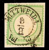 "2434 ""MITTWEIDA 9/8 73"" - K2, Klar Auf Kabinettbriefstück DR 1/3 Gr. Großer Brustschild, Katalog: DR17a BS - Sachsen"