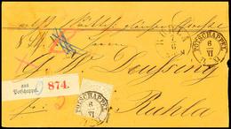 """2436 """"POTSCHAPPEL 6/VI 71"""" - K2, Klar Auf Paketbegleitbrief NDP 5 Gr. Nach Ruhla, Reichspostzeit, Sign. Hartmann, Katalo - Sachsen"""