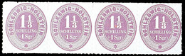 2446 1 1/3 S/1 Sgr. Lebhaftviolettbraun, Ungebrauchter, Waagerechter 4er-Streifen, 2. Marke Von Links Mit Senkrechter Bu - Schleswig-Holstein