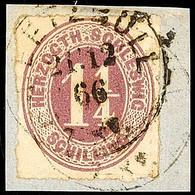 """2457 """"DEETSBÜLL 21.12.66"""", Recht Klar Und Fast Komplett Auf Pracht-Briefstück Mit 1 1/4 S. Rosalila Durchstochen, Katalo - Schleswig-Holstein"""