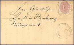 """2458 """"GLÜCKSTADT BAHNHOF Z 1 12.3.(66)"""", 2x Recht Klar Auf Komplettem Faltbrief Mit 1 1/4 S. Lebhaftbraunpurpur Durchsto - Schleswig-Holstein"""