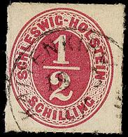 """2459 """"KALTENKIRCHEN 18.3.67"""", Klar Auf 1/2 S. Rosalila Durchstochen, Obere Linke Ecke Rund, Sonst Feines Prachtstück, Ge - Schleswig-Holstein"""