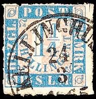 """2460 """"KELLINGHUSEN 24.3.1865"""" - K1, Zentrisch Klarer Teilabschlag Auf 1 1/4 Sch., Oben Ganz Rechts Ein Kleiner Spalt, So - Schleswig-Holstein"""