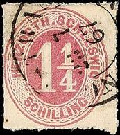 """2463 """"NORDSTRAND 23.7.67"""", K2 Recht Klarer Teilabschlag Auf 1 1/4 S. Rosalila Durchstochen, Pracht - Recht Seltener Stem - Schleswig-Holstein"""
