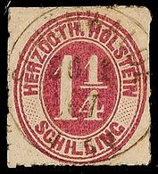 """2465 """"SCHÖNWALDE 20.1.67"""", Klar Und Zentrisch Auf 1 1/4 S. Bräunlichlila Durchstochen, Marke Fehlerhaft, Recht Seltener  - Schleswig-Holstein"""